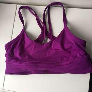 Purple lululemon bra
