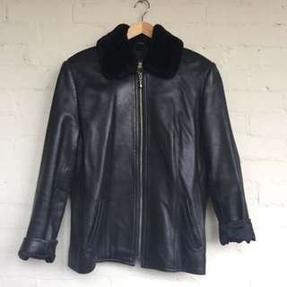 Lord and Taylor leather pilot jacket