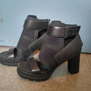 Sorel Black Strappy Heels