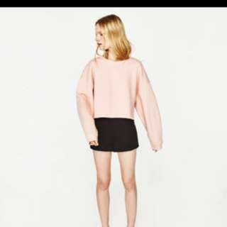 🌸ZARA cropped sweatshirt