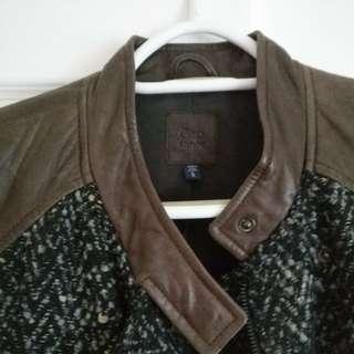 Brown Leather & Tweed Jacket
