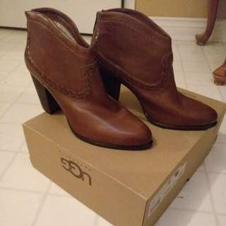 Brand New Brown Leather UGG boots