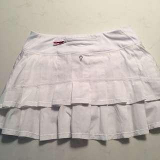 Ivivva girls age 14 white tennis yoga skirt