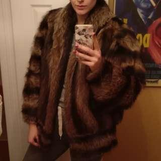 Luxury 100% Real Racoon Fur Coat