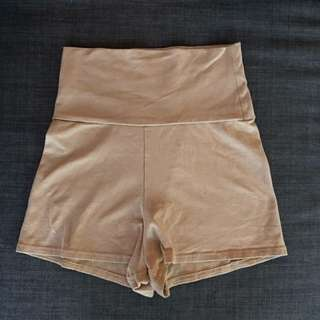 American Apparel Nude High waisted Shorts