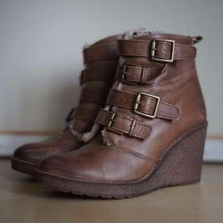 Aldo Winter Wedge Boots