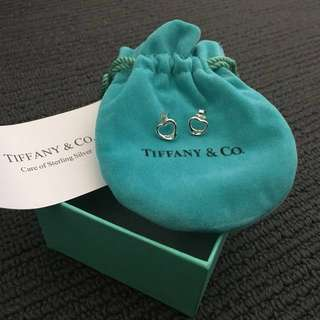 Tiffany and Co Elsa Peretti Open Heart Earrings