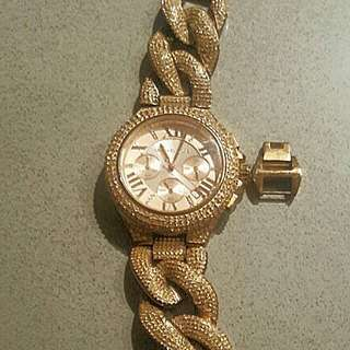 Michael Kors Rose Gold Diamond Watch