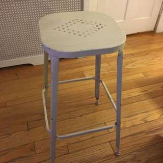 Pier 1 white rustic looking stool