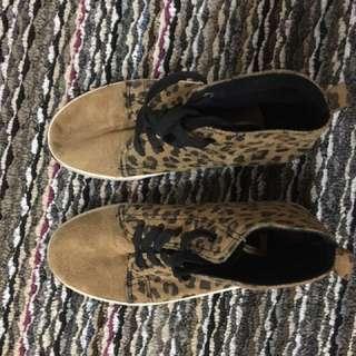 Cheetah print high tops