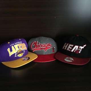 Lakers, Heat, Bulls SnapBack hats