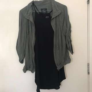 Cotton on top and light jacket size S