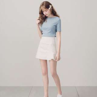 PAZZO 魚尾裙剪接短裙