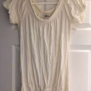 Off White Loose Tee