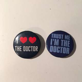 Doctor Who two pin set