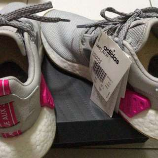 3fc129d38893b Adidas NMD R1 Grey  Shock Pink UK 4.5