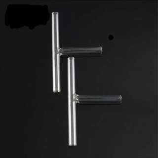 T shaped glass tubes