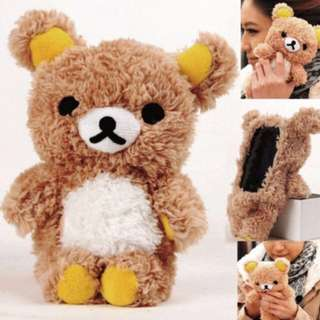 3D Cute Doll Toy Cool Plush Teddy Bear Cover Case For Iphone 5
