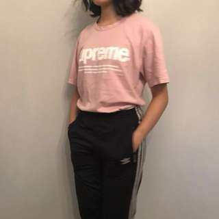 "Pink ""supreme"" shirt"
