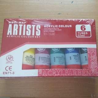 Acrylic colour set