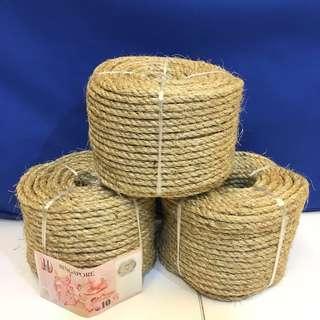 In stock - DIY 50 Meter natural sisal hemp rope 6mm buy 3 free glue gun-  revive used cat  scratcher!