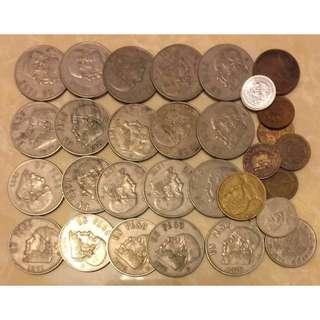 墨西哥 舊錢幣30個