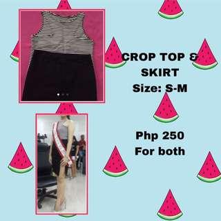 Bundle! Crop top and skirt