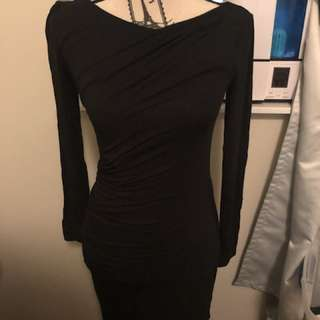 Talula long sleeve black dress