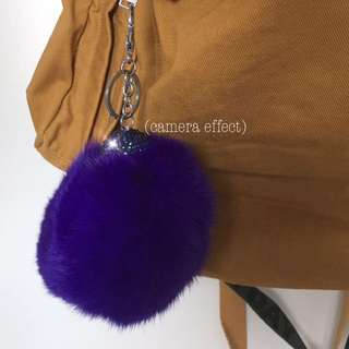 Fur ball/puff ball keychain/bag charm