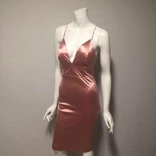 BNWT - Pink Satin Dress