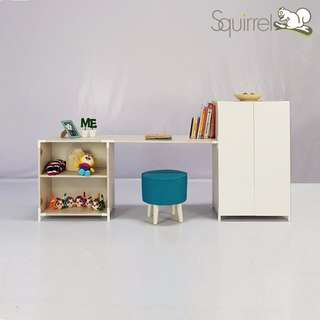 Squirrel Mix & Match Series-Study table & cabinet- Kid Set 2