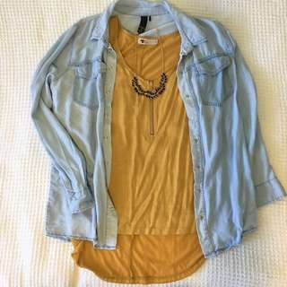 Tempt mustard yellow top