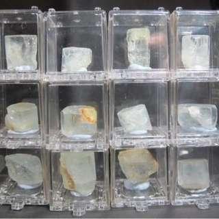 【海藍】中國四川雲母頂海藍寶石標本
