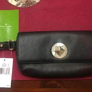 (black) brand-new authentic kate spade chrystie street wristlet