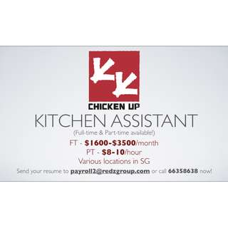 looking for Kitchen Assistant