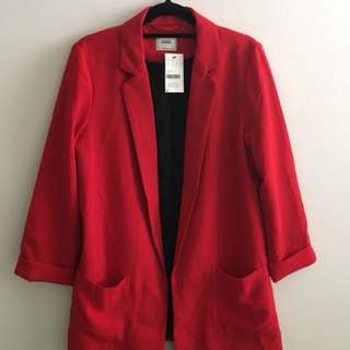 Red Pimkie blazer size Large