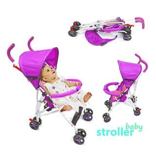 Violet Baby Foldable Stroller with Canopy