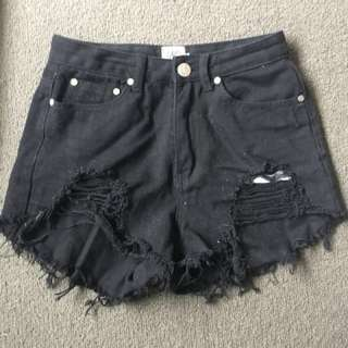 Brand new high waisted black shorts