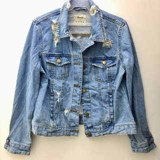 Imported Ripped Denim Jacket