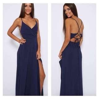 Pepper Mayo Long Navy Dress