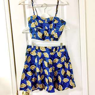 F21 Crop and Skirt Set