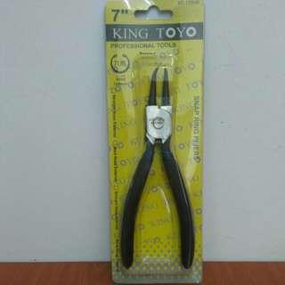 "KING TOYO Circlip Pliers - 7"" (Internal Bent)"