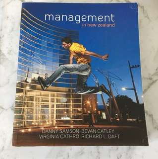 Management in New Zealand Textbook