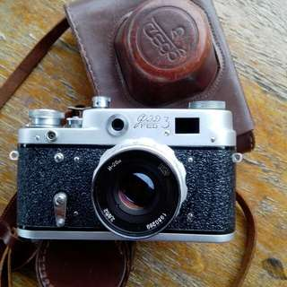 Rare Fed 3 Rangefinder Film Camera + Industar 26m 50mm Lens