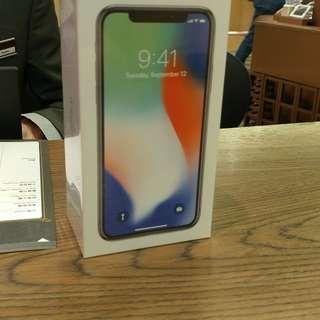 全新 Iphone X 256gb 銀 台機