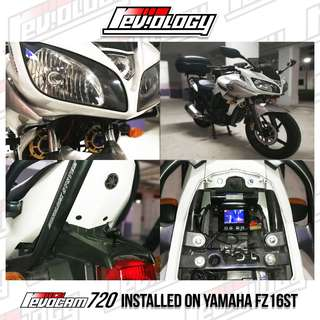 Revocam 720 HD Motorcycle Front & Rear Camera On YAMAHA FZ16ST