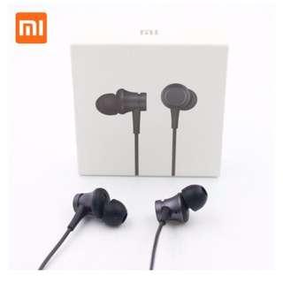 Original Xiaomi MI Piston Basic Edition In-ear Earphones with Mic (Black)