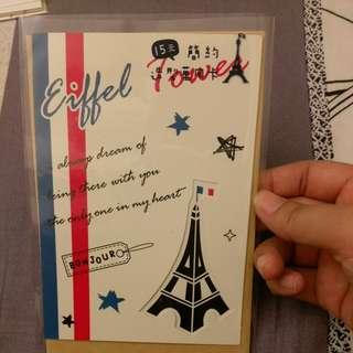 台灣明信片+法國風卡片