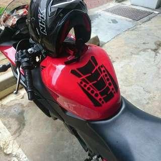 Bike Tank Sticker (blue,red,black,sliver)