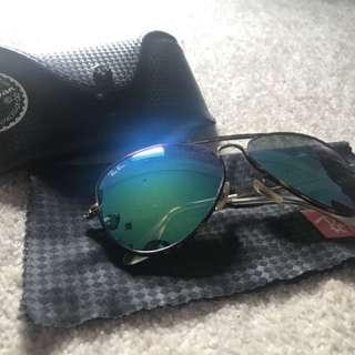 Rayban reflective/aviator flash/mirror lenses sunglasses